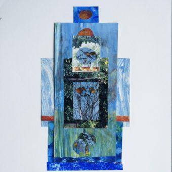 Karen - collage blue